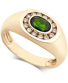 Men's Russalite (9/10 ct. t.w.) & Diamond (1/3 ct. t.w.) Ring in 14k Gold