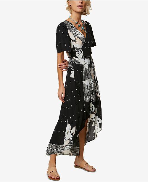 9493e6d182 O Neill Juniors  Alamante Printed Wrap Maxi Dress   Reviews ...