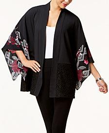 Alfani Lace-Trim Kimono, Created for Macy's