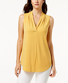 Charter Club Sleeveless Surplice Top, Created for Macy's