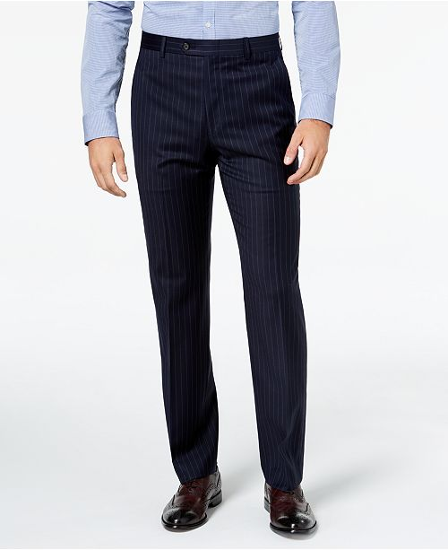 Lauren Ralph Lauren Men's Classic-Fit UltraFlex Stretch Navy Pinstripe Suit Pants