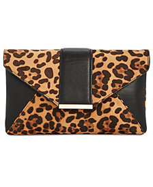 I.N.C. Leopard-Print Luci Clutch, Created for Macy's