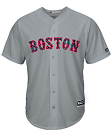 Majestic Men's Boston Red Sox Stars & Stripes Cool Base Jersey