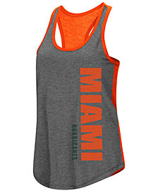 Colosseum Women's Miami Hurricanes Share It Racerback Tank