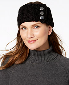 MICHAEL Michael Kors Three-Button Cable-Knit Headband