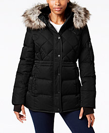 BCBGeneration Faux-Fur-Trim Hooded Parka