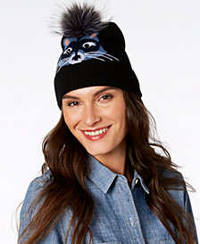 kate spade new york Wool & Faux-Fur Raccoon Beanie