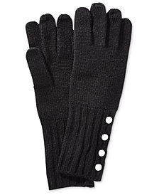 MICHAEL Michael Kors Ribbed-Knit Gloves