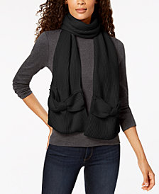 kate spade new york Solid Bow Scarf