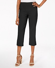 Pull-On Lattice-Inset Capri Pants, Created for Macy's