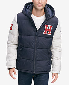 Tommy Hilfiger Men's Varsity Hooded Puffer Jacket