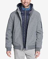 596450ff4c88 Tommy Hilfiger Soft-Shell Hooded Bomber Jacket with Bib. Quickview. 3 colors