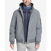 Deals on Tommy Hilfiger Soft-Shell Hooded Bomber Jacket with Bib