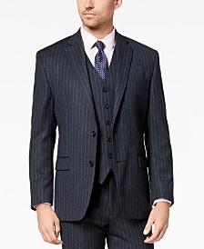 Lauren Ralph Lauren Men's Classic-Fit UltraFlex Stretch Charcoal/Blue Pinstripe Suit Jacket