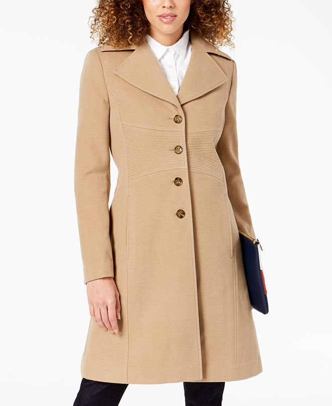 Tommy Hilfiger Single-Breasted Walker Coat, Created for Macy's