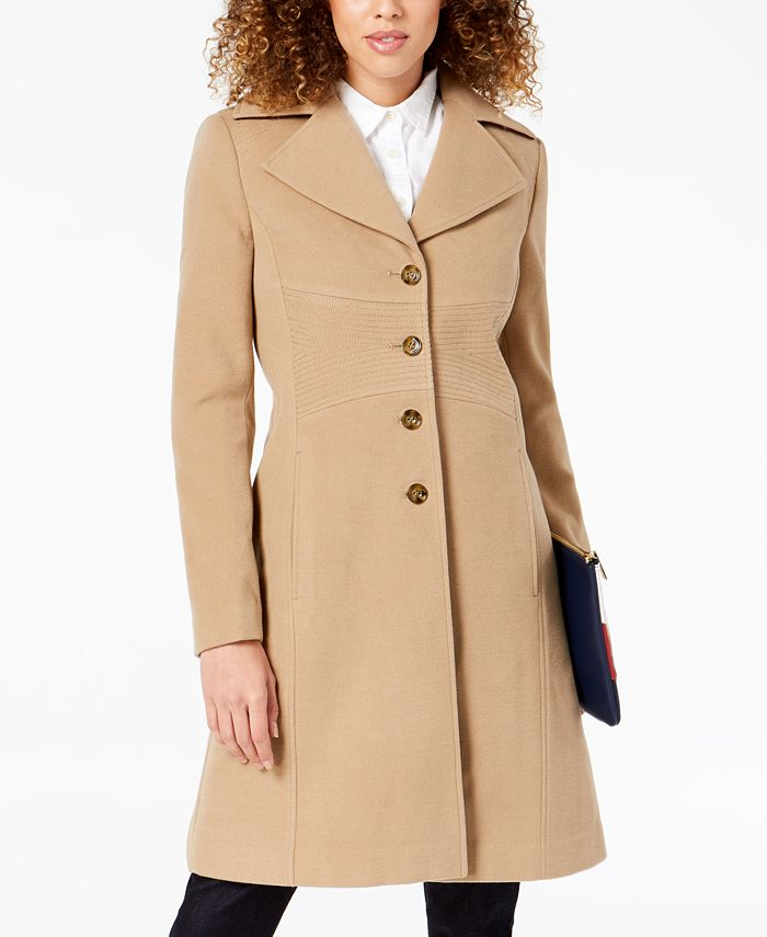 Tommy Hilfiger - Single-Breasted Peacoat