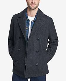 Tommy Hilfiger Men's Double-Breasted Wool Peacoat, Created for Macy's