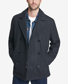 Tommy Hilfiger Men's Peacoat with Scarf