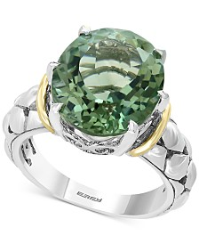 EFFY® Prasiolite Statement Ring (7-3/4 ct. t.w.) in Sterling Silver & 18k Gold