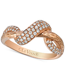 Le Vian® Diamond Swirl Ring (1/3 ct. t.w.) in 14k Rose Gold