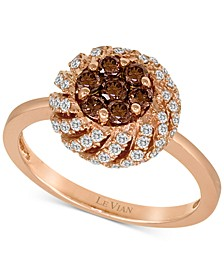 Chocolatier® Diamond Cluster Ring (3/4 ct. t.w.) in 14k Rose Gold