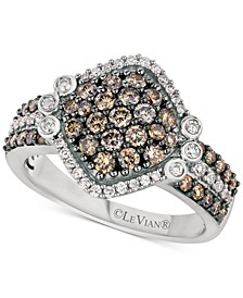 Chocolatier® Diamond Cluster Ring (1-1/8 ct. t.w.) in 14k White Gold