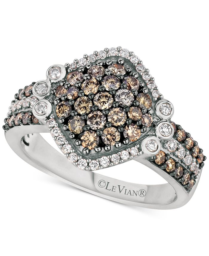 Le Vian - Diamond Cluster Ring (1-1/8 ct. t.w.) in 14k White Gold