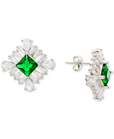 Giani Bernini Cubic Zirconia Cluster Stud Earrings in Sterling Silver, Created for Macy's