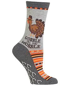 Thanksgiving Gobble Till You Wobble Socks