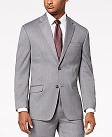 Sean John Men's Classic-Fit Stretch Gray Tic Suit Jacket