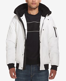Sean John Men's Hooded Bomber Jacket