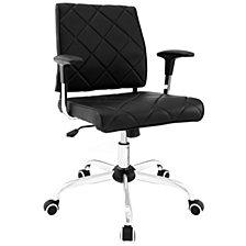 Lattice vinyl office chair