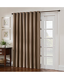"Keeco Antique Satin 100"" x 84"" Room-Darkening Grommet Patio Panel"