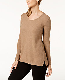 Karen Scott Cotton V-neck Tunic, Created for Macy's