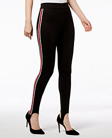 I.N.C. Varsity Stripe Stirrup Leggings, Created for Macy's