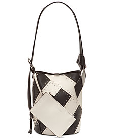 Calvin Klein Karsyn Leather Studded Convertible Hobo Backpack