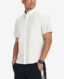 Tommy Hilfiger Men's Mackie Logo Slim Fit Shirt, Created for Macy's