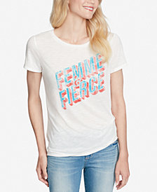 Jessica Simpson Juniors' Allina Twist-Front Graphic T-Shirt