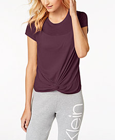 Calvin Klein Performance Twist-Front Top