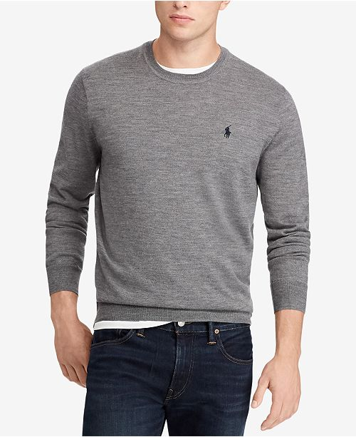 f8c1ceffac6a55 Polo Ralph Lauren Men's Big & Tall Merino Wool Sweater & Reviews ...