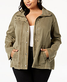 Lucky Brand Trendy Plus Size Peplum Jacket