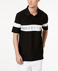 DKNY Men's Logo Striped Polo