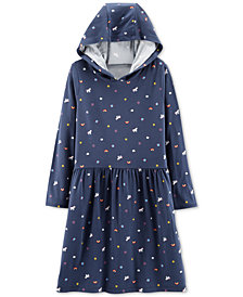 Carter's Little & Big Girls Unicorn Hooded Dress