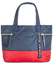 Tommy Hilfiger Quilted Colorblocked Shopper