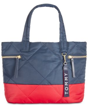 KENSINGTON QUILTED COLORBLOCKED TOTE