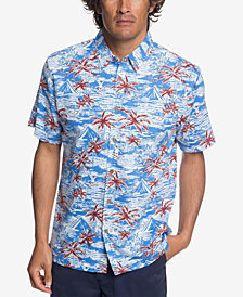 Quiksilver Waterman Men's Sumo Surfers Hawaiian Shirt