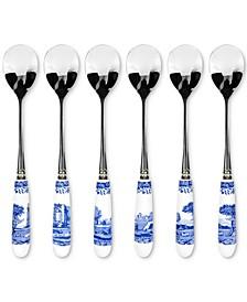 Blue Italian Teaspoons, Set of 6