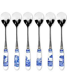 Spode Blue Italian Teaspoons, Set of 6