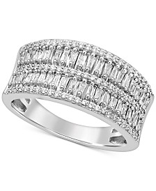 Diamond Baguette Band (1/2 ct. t.w.) in 14k White Gold
