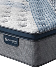 "iComfort by Serta Blue Fusion 1000 14.5""  Hybrid  Plush Euro Pillow Top Mattress - Queen"
